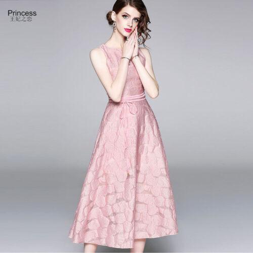 Elégante Fluffy Robe Slim Slim Rose Robe 4366 Doux Evasée Courte dIpgdx1