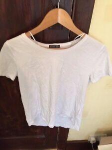 Zara Femme T-shirt Blanc Petit   eBay