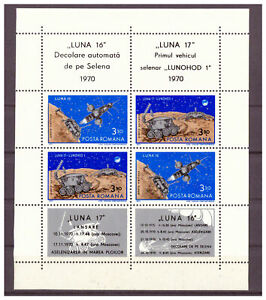Rumanien-Luna-16-Luna-17-amp-Lunochod-1-MiNr-2914-2915-Bloc-82-1971
