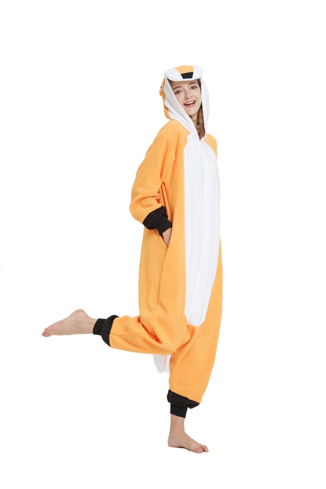 Fox Adult Animal Cosplay Pajamas Costume One Piece Kigurumi