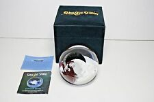 New Glass Eye Studio Mercury Blown Glass Paperweight In The Box