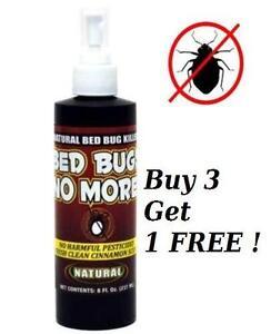 Bed Bugs No More Natural Bedbug Killer No Harmful Pesticides 8oz