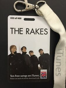 THE-RAKES-RARE-I-TUNES-LOW-NUMBERED-CONCERT-LAMINATE-2007-MINT