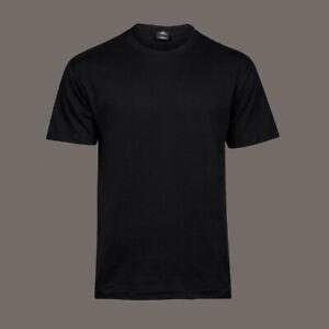 T-Shirt-blanko-schwarz-mit-Rundhalsausschnitt-100-Baumwolle-ohne-Aufdruck