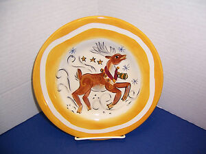 Tabletops-Unlimited-Espana-Holiday-Reindeer-Salad-Dessert-Plate-8-5-Christmas