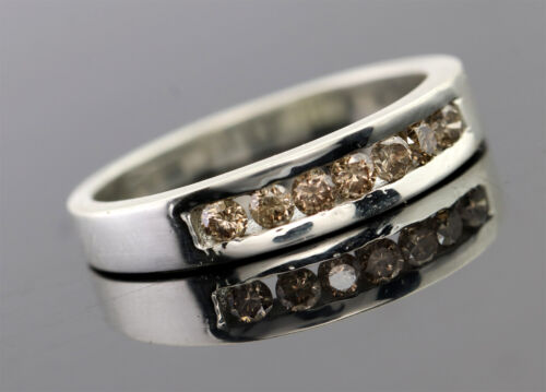 0.37 ct Champagne Diamant Eternity Band Ring Channel Setting