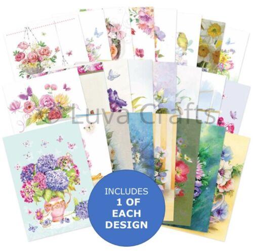 Hunkydory el pequeño libro de deseos Floral-paquete de muestra 24 Hojas X A6 150gsm