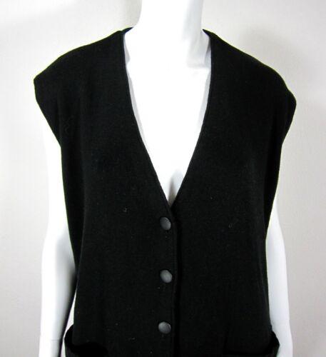 Sort Halsbånd M Sweater Ermeløs Vest Størrelse V Solid Medium Cardi Pierre n4qRx8Wv8