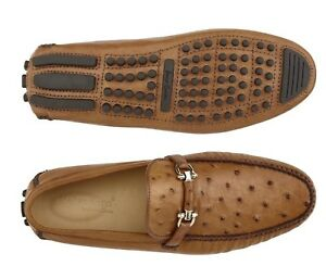 Belvedere-Omar-Walking-Shoes-Slip-on-Brandy-Genuine-Ostrich-Elegant-50V