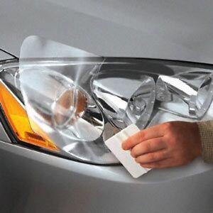 Film Protection Phares 30x100cm Feux Transparent Auto Moto New Haute Qualité