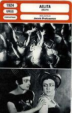 Movie Card. Fiche Cinéma. Aelita (URSS) Jacob Protozanov 1924