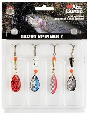 1115257 ABU CARICA TROUT SPINNER KIT SET OF 4  SPINNERS