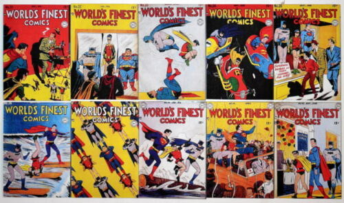 "10 WORLD'S FINEST COMICS 2"" x 3"" COVER MAGNETS World's Finest #3140"