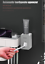 Automatic-Toothpaste-Dispenser-Toothbrush-Holder-Wall-Mount-Storage-Rack-2-CUPS thumbnail 2