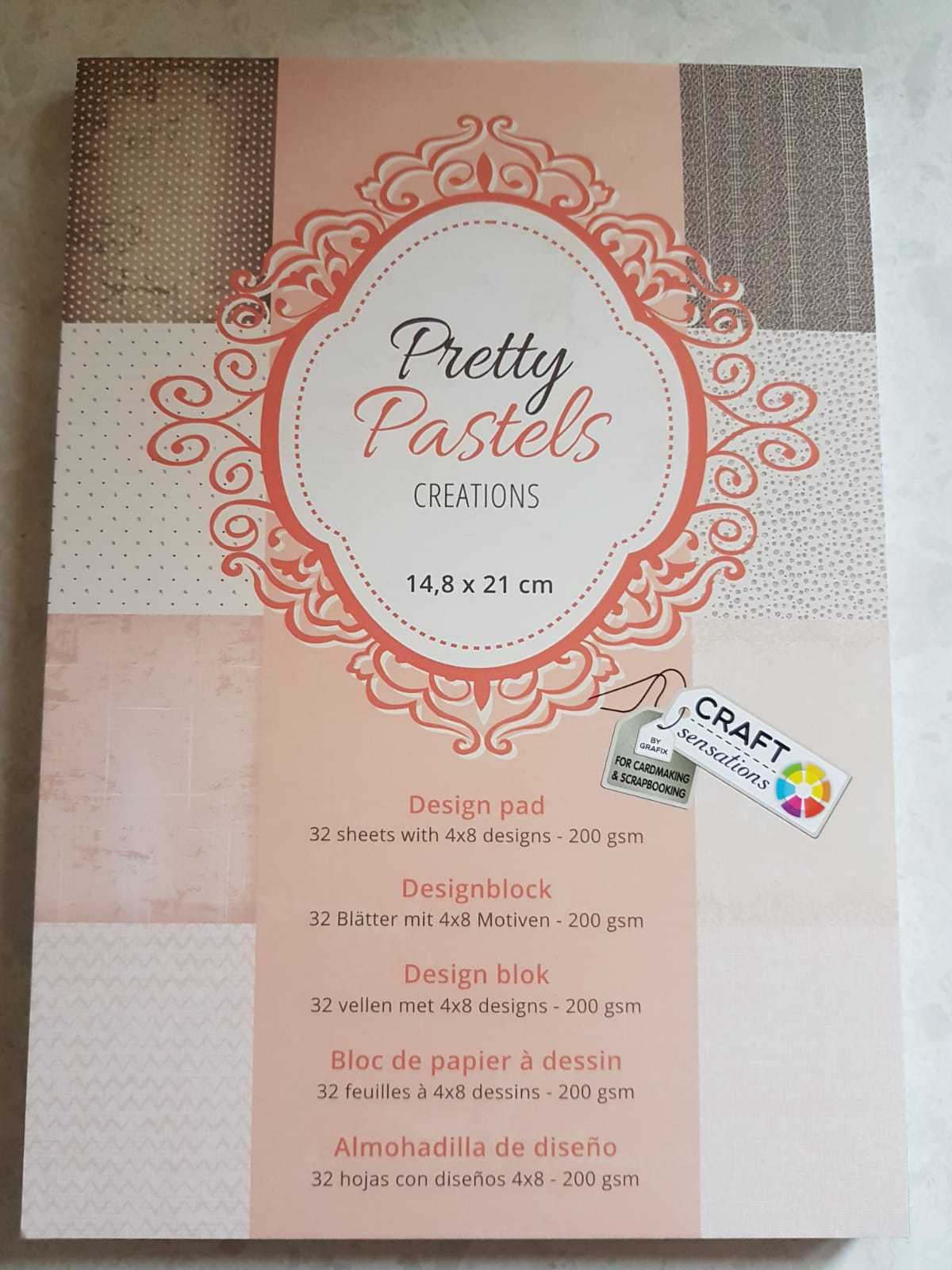 CRAFT PAD PURPLE PARADISE Creations 14.8 x 21cm 32 SHEETS with 4x8DESIGNS 200gsm