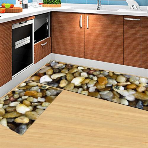 Non-Slip Kitchen Floor Mat Machine Washable Rug Door Mat L-Shape Hallway Carpet