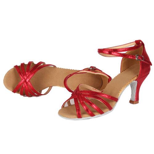 Brand New Women/'s Ballroom Latin Tango Dance Shoes heeled Salsa 8 Colors 1810