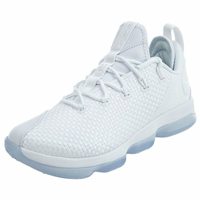 bea29b8e2cd Authentic Nike Lebron XIV 14 Low Triple White Ice 878636 101 Men Sz ...