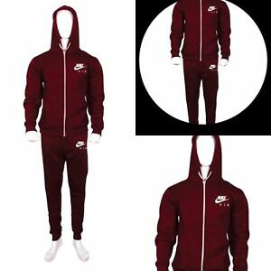 Men-039-s-Nike-Slim-Fit-Full-Zip-up-Fleece-Joging-and-Training-Tracksuit-Set-was-65