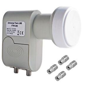 Twin-LNB-lnc-dual-Double-0-1db-HD-HDTV-SKY-HD-3d-ahorra-solo-160ma-electricidad