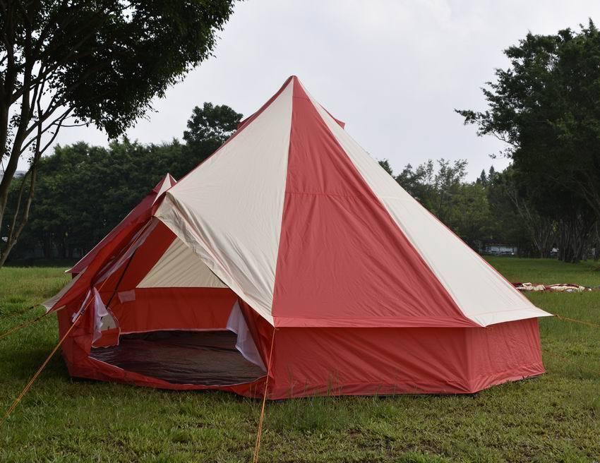 5M Red Bell tent 5 Meter 5M ZIG 10 person FAMILY CAMPING Tent Mesh Door Vents