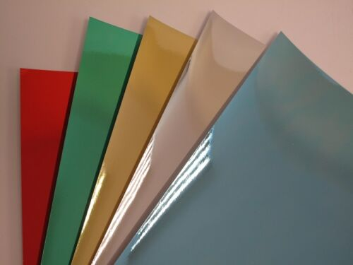 210 x 297 Mirror Card A4 270gsm x 10 Red Gold Green Silver Blue Arts /& Crafts
