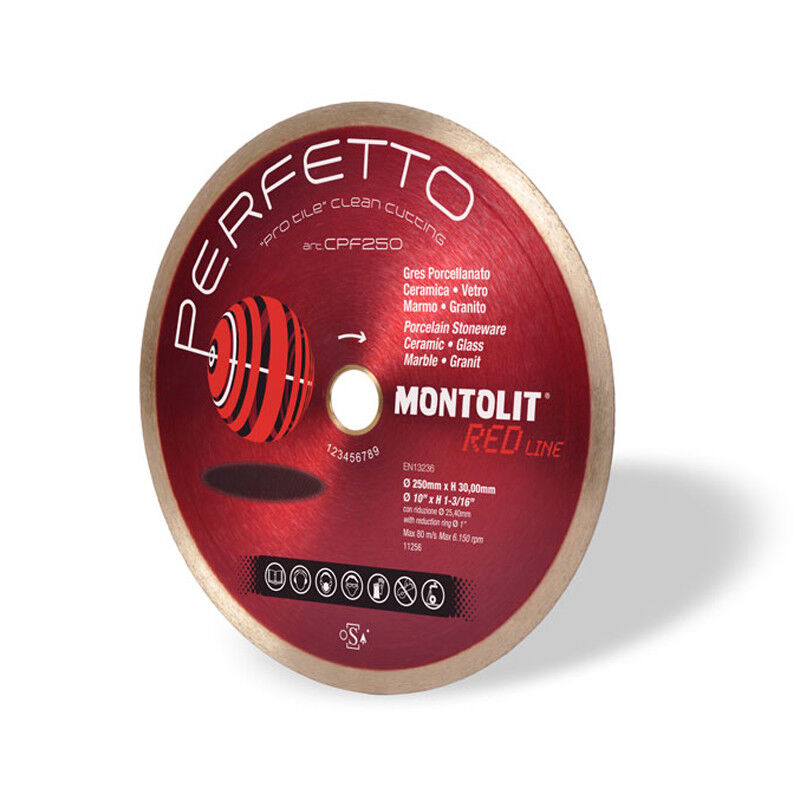 Montolit CPF PERFETTO Diamond Blades For Perfect Cut Porcelain, Ceramic, Marble