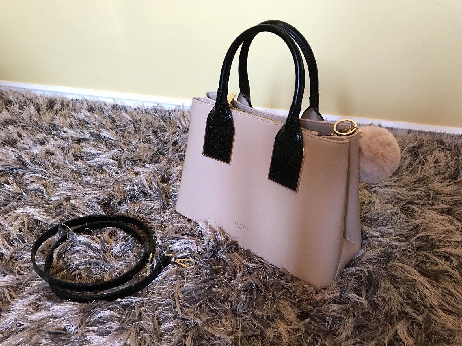 Ted Baker Lolita Metallic Trim Leather Tote Bag