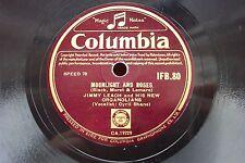 JIMMY LEACH 78 RPM MOONLIGHT AND ROSES / ALWAYS IRISH COLUMBIA IFB.80