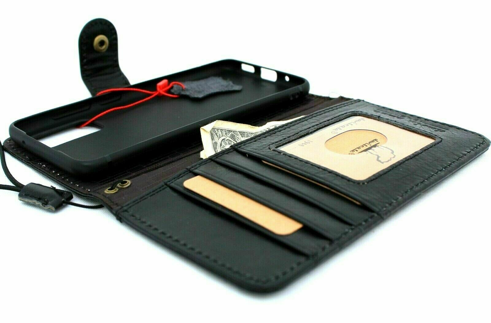 Image 11 - Genuine-Black-Leather-Case-for-Samsung-Galaxy-S20-Wallet-Book-Wireless-Closure