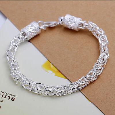 Asamo Königsarmband Armband Für Königskette Damen Herren Silber Plattiert A1096