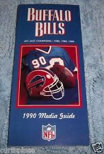 NFL Buffalo Bills 1990 Football Media Guide, Illustrated, Free Shipping Included