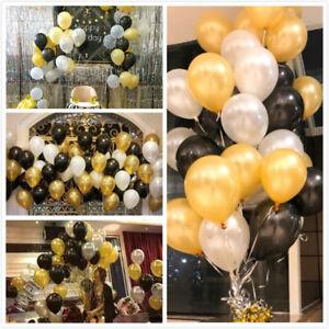 100x-Hochzeitsfeier-Geburtstag-goldenen-Latex-Ballon-4cm-Pearl-Gold-Party-Deko-H