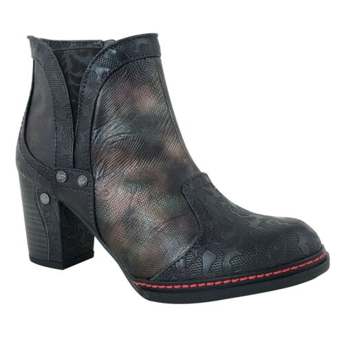 Schwarz Fashion Zu Mustang Trend Stiefelette Absatz Herbst Details Braun Damen Winter uFJTK31c5l