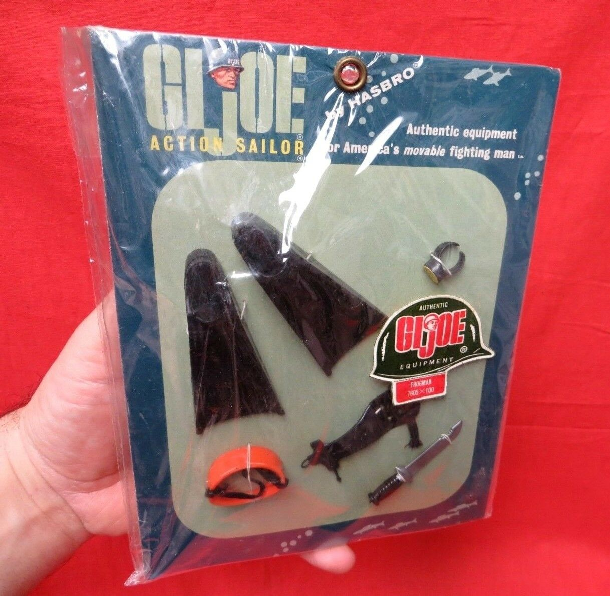 1964 VINTAGE GI JOE JOEZETA:      7605  ACTION SAILOR FROGMAN ACCESSORIES   MOC