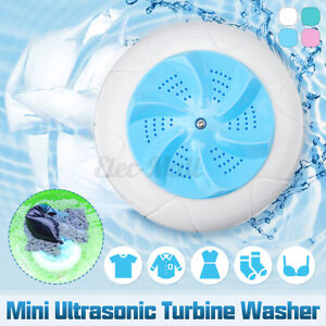Mini USB Washing Machine Portable Rotating Ultrasonic Turbine Laundry Washer
