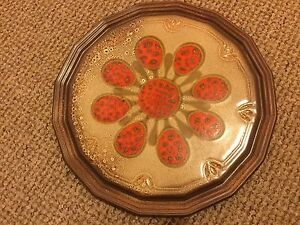Retro Look Ceramic Plate / Cake Plate with Unusual Lord Frith Style Design