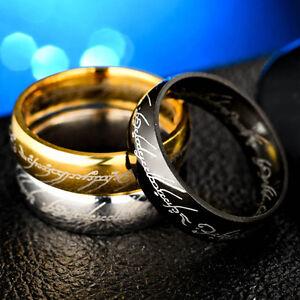 1-Pc-Unisex-Herr-der-Ringe-die-ein-Ring-Titan-Steel-Fashion-Ring-Groesse-6-12
