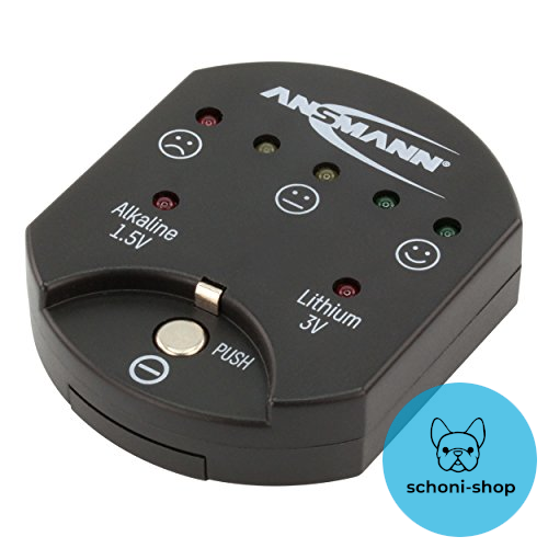 Ansmann Button Cell Tester/reliable test device for displaying the excess