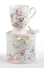 Delton Products-Porcelain Coffee or Tea Mug with Gift Box-Cycle Design #8107-2