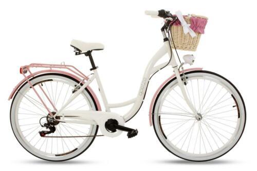 Goetze 28 Zoll Damenfahrrad Amsterdam 6 Gänge!!!! Licht weiss-pink!!!! Korb u