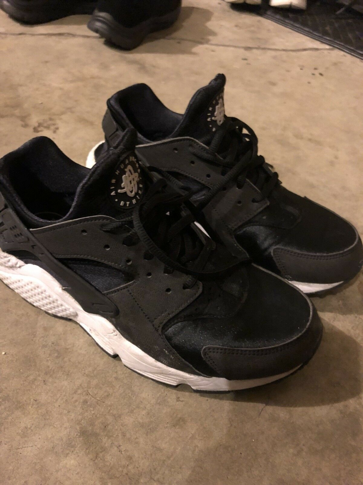Nike Air Huarache Ultra Black Black Black White   Size 8 mens   size 9.5 womens f379a2