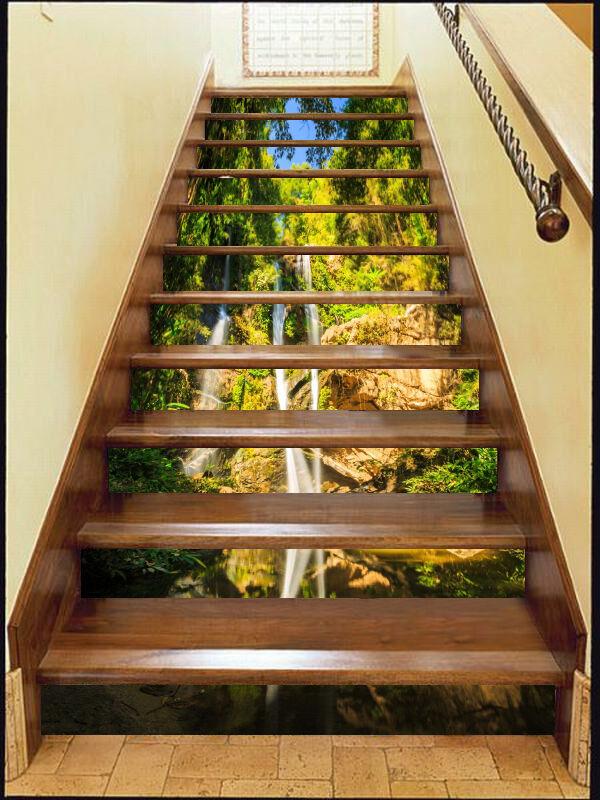 3D Valley Brook 57 Stair Risers Decoration Photo Mural Vinyl Decal WandPapier AU
