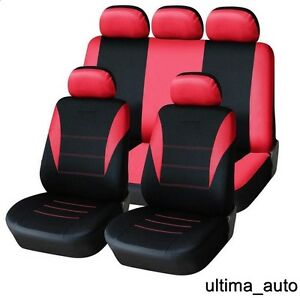UNIVERSALE Coprisedili Auto Per FORD Focus Coprisedili Rosso Rivestimento Seggiolino Auto Turbo