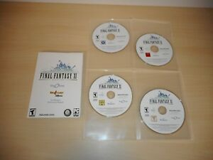 Details About Final Fantasy Xi Online 11 Four Game Discs Manual Pc Windows Game Ff11 Ffxi