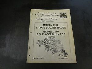 Details about New Holland Ford Model 2000 Large Square Baler Service Parts  Catalog Manual