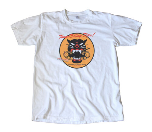 Vintage Oldsmobile WWII Tank Eating Tiger T-Shirt Military Rockabilly Army