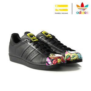 on sale c5e21 af374 La imagen se está cargando adidas-Originals-Superstar-Pharrell-par-Pharrell- William-REF-