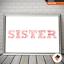 Personalised Sister Christmas Gifts  Birthday Sister Present Keepsake