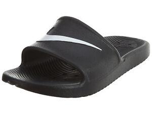 83de86e84bc2 Nike Kawa Shower Mens 832528-001 Black White Logo Strap Slide ...